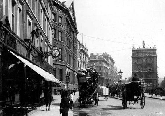 Queen Victoria Street, London, c.1891