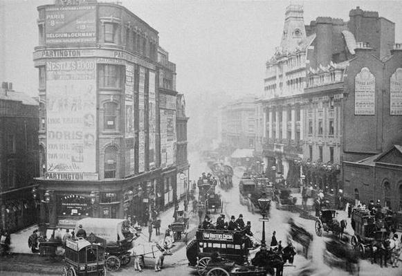 View of Tottenham Court Road, c.1885