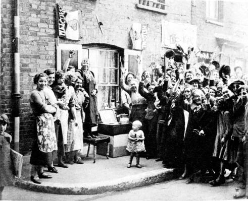 Jubilee Decoration in the East End, May 12th 1935