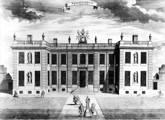 View of Marlborough House in Pall Mall, Westminster, 1741