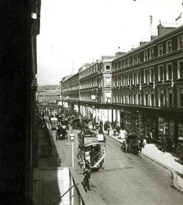 A View of Westbourne Grove, London, showing Whiteley's department store, c.1890