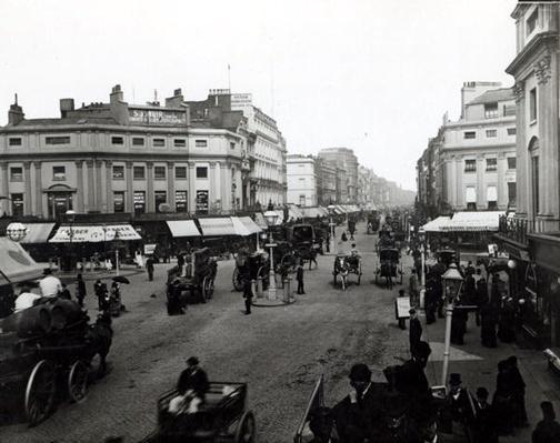 View down Oxford Street, London, c.1890