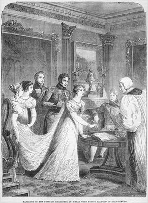 The Marriage of The Princess Charlotte of Wales with Prince Leopold of Saxe-Coburg, 2nd May 1816