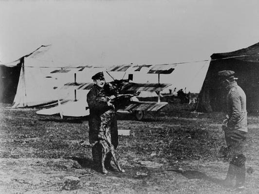 The Red Baron and his dog