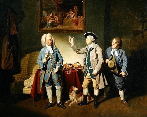 Edward Shuter, John Beard and John Dunstall in Isaac Bickerstaffe's 'Love in a Village', 1767