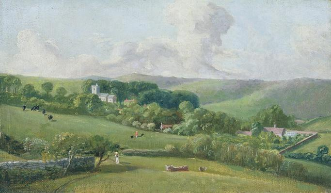 Osmington, A view to the village, c.1816