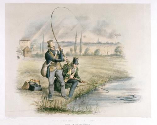 Jack Fishing, Lea Bridge, from a set of six images of 'Angling'