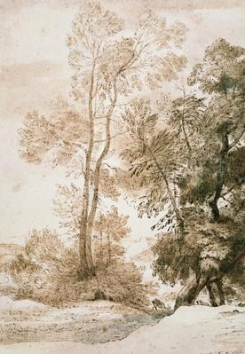 Trees and Deer, after Claude, 1825
