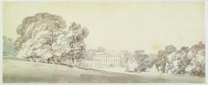 A three storied Georgian house in a park, c.1795