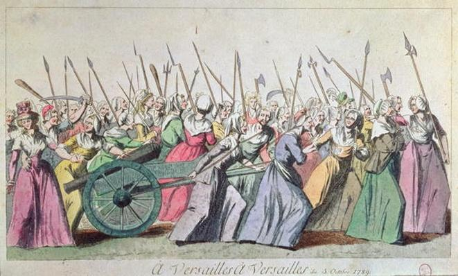 'A Versailles, A Versailles' March of the Women on Versailles, Paris, 5th October 1789