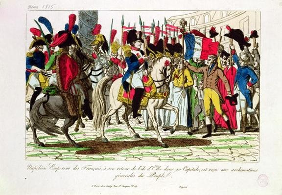 The People of Paris Acclaiming Napoleon