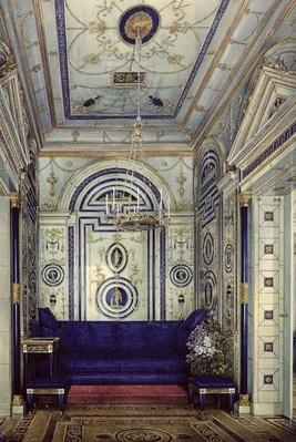 The Blue Study in the Grand Palais in Tsarkoye Selo, before 1840