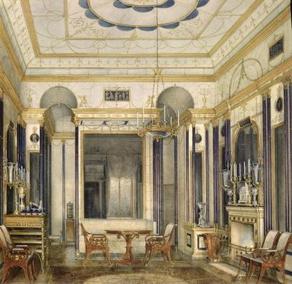 The Drawing Room of the Empress Maria Alexandrovna in the Great Palais in Tsarskoye Selo