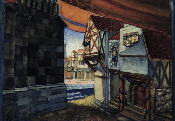 Stage design for the opera 'The Maid of Orleans' by Pyotr Tchaikovsky