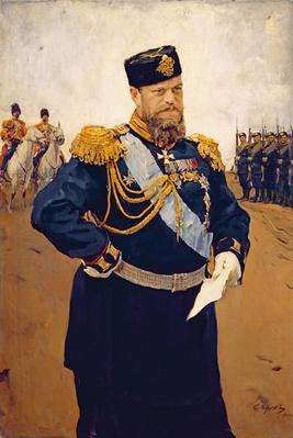 Portrait of Tsar Alexander III, 1900