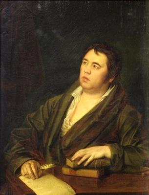 Portrait of the poet Ivan A. Krylov, 1812