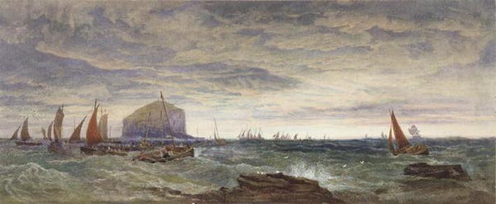 The Bass Rock at Dawn, 1855