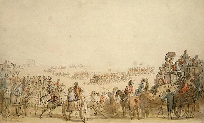 Review of the Light Horse Volunteers on Wimbledon Common, 1798