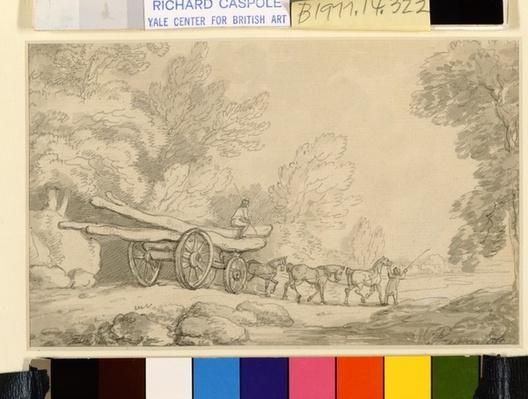 A Timber Wagon, c.1790