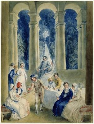 The Tenth Day of the Decameron, from Boccacio's 'Decameron'
