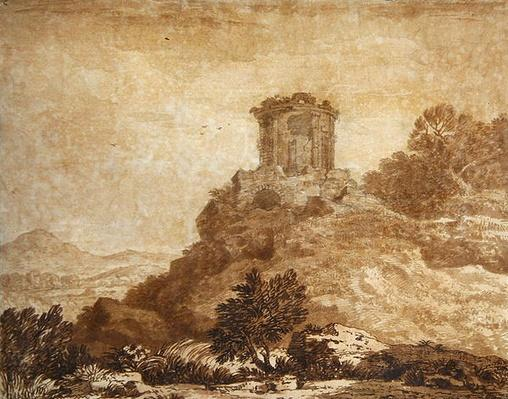 Landscape with a ruined temple, c.1756