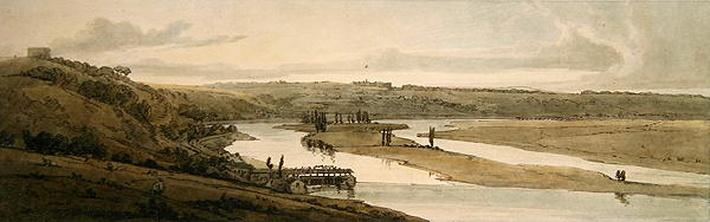 The Waterworks at Marli and St. Germain-en-Laye seen in the distance, 1802