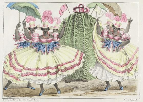 Red-Set Girls and Jack-in-the-Green, plate 2 from 'Sketches of Character...', 1838