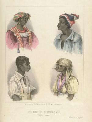 Creole Negroes, plate 12 from 'Sketches of Character...', 1838