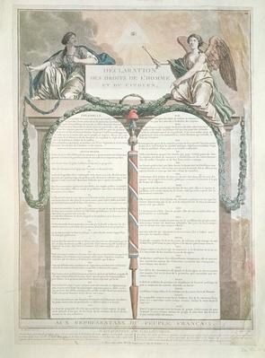 Declaration of the Rights of Man, 10th August, 1793