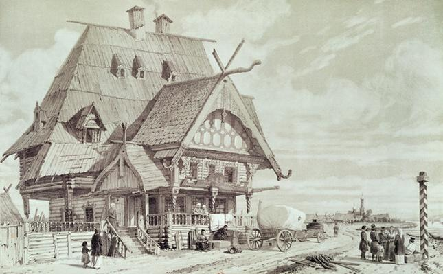 Hotels and Guest Houses, illustration from 'Voyage pittoresque en Russie', 1839