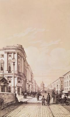 Nevsky Prospekt, St. Petersburg, illustration from 'Voyage pittoresque en Russie', 1843