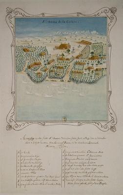 Siege of 'Saint Thomas de la Goiane', in the Antilles, 11th December 1629