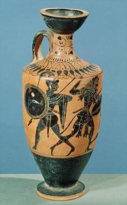 Attic Style Lekythos, depicting Hercules and the Amazons