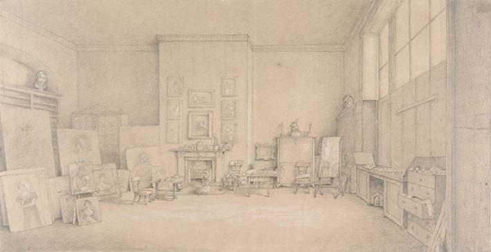 Sir Thomas Lawrence's Studio; 65 Russell Square, London, 1824