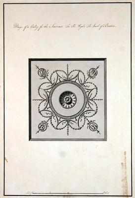 Design for the ceiling of the staircase, Headfort House, 1771-75