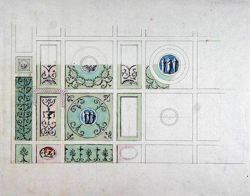 Design for the ceiling of the Eating Parlour, Headfort House