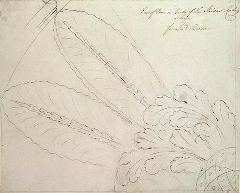 Design for the ceiling rose on the staircase, Headfort House, 1772