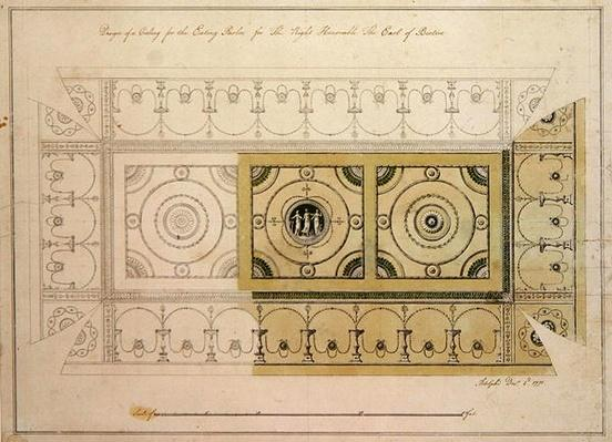 Design for the ceiling of the Eating Parlour, Headfort House, 1775