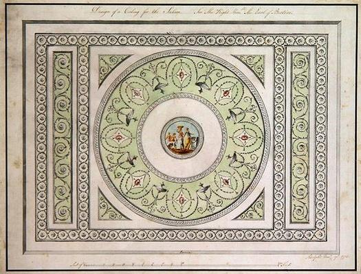 Design for the ceiling of the Saloon, Headfort House, 1772