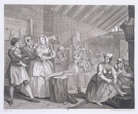 A Harlot's Progress, plate IV, from 'The Original and Genuine Works of William Hogarth', published in London, 1820-22