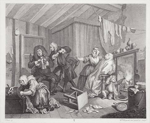 A Harlot's Progress, plate V, from 'The Original and Genuine Works of William Hogarth', published in London, 1820-22