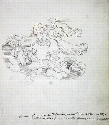 Oberon. 'There sleeps Titania, some time of the night...', 1783