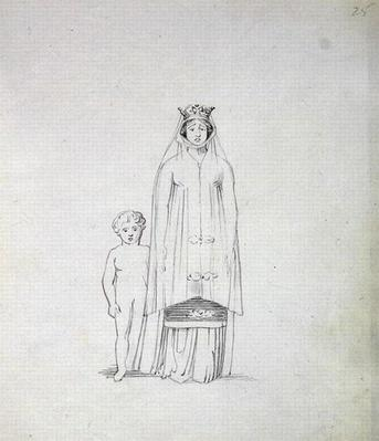 Mrs Siddons as Constance with child, 1783