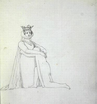 Drawing of Mrs Siddons as Constance, 1783