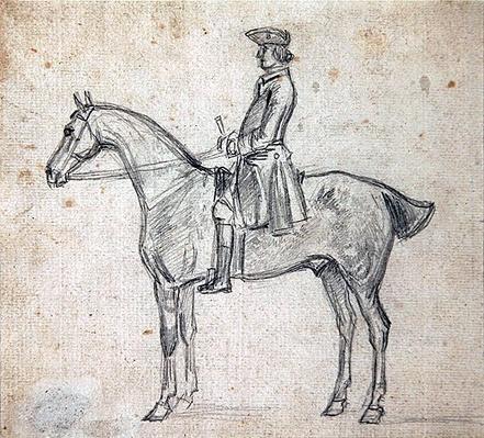 Rider wearing a tricorne hat