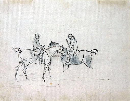 Two Riders Conversing