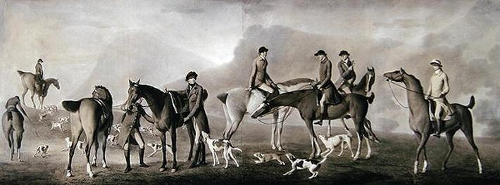 Tom Conolly of Castletown Hunting with his Friends, 1769