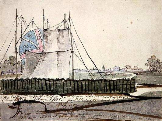 View of the Balloon in Newington Causeway, May 1785