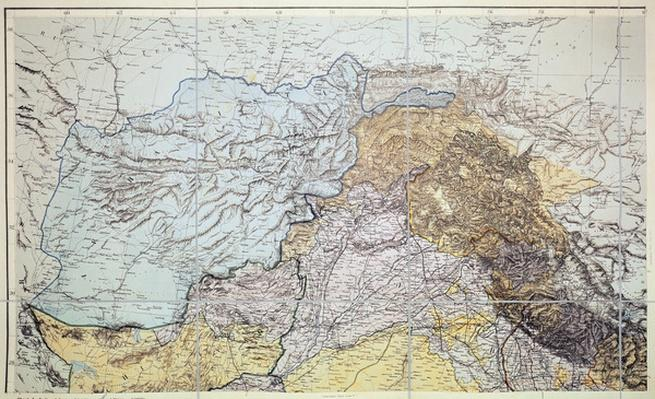 Map of Afghanistan, 1898