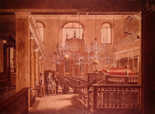 Bevis Marks Synagogue, c.1817
